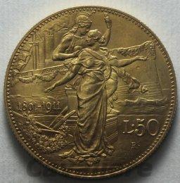 50 Lire Au 1911