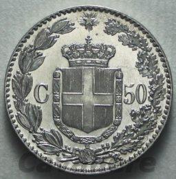 50 Centesimi Ag 1892  Cat. ...