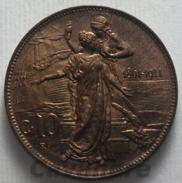 10 Centesimi Cu 1911 ...