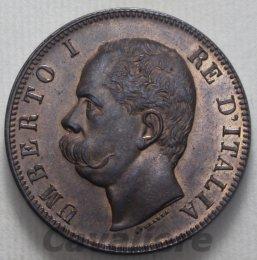10 Centesimi Cu 1893 zeca di ...