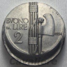 Buono da Lire 2 Ni 1924 Conio ...