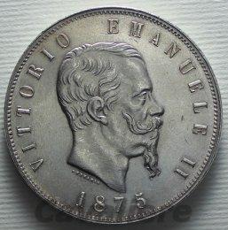 5 Lire Ag 1875 zecca di ...