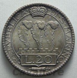 20 Lire Ag 1936 -R- Ottimo ...