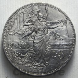 5 Lire Ag 1911