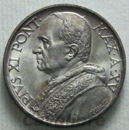 Pio XI 1929-1938 5 Lire Ag 1936 ...
