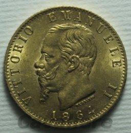20 Lire Au 1864 zecca ...