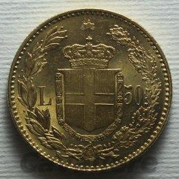 Umberto I 1878-1900 50 Lire Au ...
